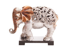 Carved elephant isolated on white background.  Stock Images