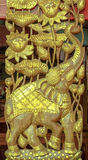Carved Elephant Royalty Free Stock Image