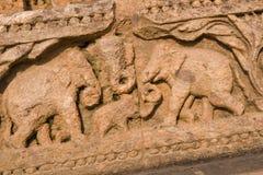 Carved Elephants Stock Image