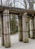Carved entrance gate to the park Royalty Free Stock Image