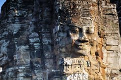 Angkor Faces in Bayon Temple, Angkor Wat Royalty Free Stock Image