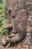 The carved faces of Angkor Thom, Cambodia stock images