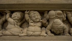 Carved figures of dwarfs Royalty Free Stock Photo