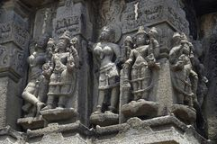 Free Carved Figures, Outer Wall Of Temple, Near Palasdeo Temple, Ujani Dam, Maharashtra Royalty Free Stock Photo - 128919375