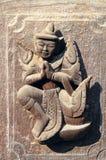 Carved figurines. Shwe Kyang monastery. Mandalay. Myanmar Royalty Free Stock Images