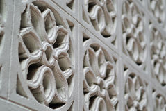 Carved flower concrete texture background Royalty Free Stock Photo