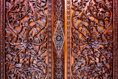 Carved flowers, Liana carved, carved doors and windows Stock Images