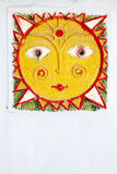 Carved folklore sun Royalty Free Stock Image