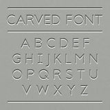 Carved Font Design Stock Photo