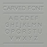 Carved font design Stock Photo