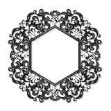Carved frame for picture or photo Royalty Free Stock Image