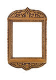 Carved Frame for picture or portrait isolated. Empty carved Frame for picture or portrait isolated over white Stock Photos