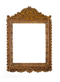 Carved Frame for picture or portrait over white Stock Photography