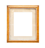 Carved Frame. Wooden frame isolated on white with clipping path Royalty Free Stock Photo