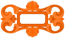 Carved freme. Carved wooden frame in style baroque on a white background Royalty Free Stock Images