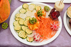 Carved fruits and vegetables Stock Photography