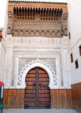 Carved gate in Fes, Morocco Royalty Free Stock Photos