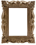 Carved gilded frame Stock Photo