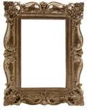 Carved gilded frame Stock Photo