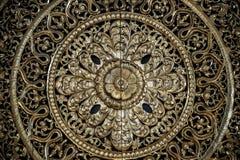 carved golden flower carving sculpture pattern art stock images