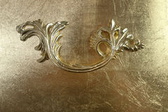 Carved golden handle Stock Photography
