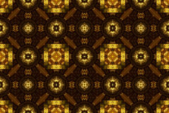Carved golden ornament, Seamless pattern texture. Stock Images