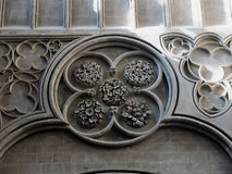 Carved Gothic  stone rosette. Royalty Free Stock Images