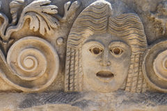 Carved Greek masks Royalty Free Stock Photography