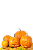 Carved Halloween Jack O Lanterns Stock Photos