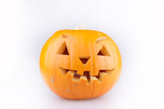 Carved halloween pumpkin Stock Photos