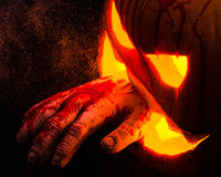 Carved Halloween Pumpkin Royalty Free Stock Image