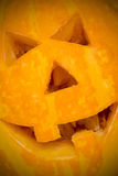 Carved Halloween pumpkin close-up Royalty Free Stock Images