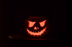 A carved halloween pumpkin Royalty Free Stock Photography