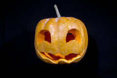 Carved Halloween pumpkin Stock Images