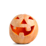 Carved halloween pumpkin smiles Royalty Free Stock Photography