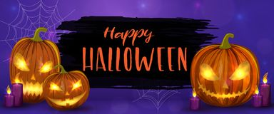 Scary Halloween illustration Royalty Free Stock Images