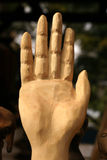 Carved Hand Up - STOP Royalty Free Stock Images