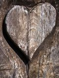 Carved heart Stock Images