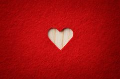 Carved heart Royalty Free Stock Images