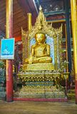 The carved image of Lord Buddha, Ywama, Inle Lake, Myanmar Royalty Free Stock Photo