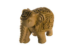 Carved Indian Elephant, Isolated Stock Image