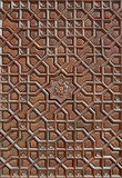 Carved Islamic Motif on the Wooden Surface Stock Photography