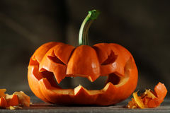 Carved jack o' lantern Stock Photo