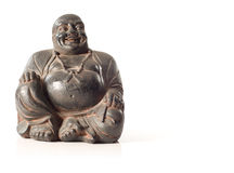 Carved laughing Buddha Stock Image
