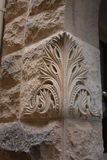 Carved Limestone. This pic was taken at a residence in Kerrville Texas on New Years Day 2016 Royalty Free Stock Image