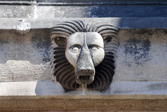 Carved lion on the Hadrians Gate in Antalya Stock Images