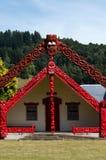 Maori Marae - Meeting House Stock Photo