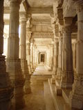 Carved marble. Jainist temple in India Royalty Free Stock Photography