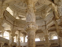 Carved marble. Jainist temple in India Royalty Free Stock Photos