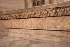 Carved Marble Panel from Taj Mahal in Agra India Royalty Free Stock Photo